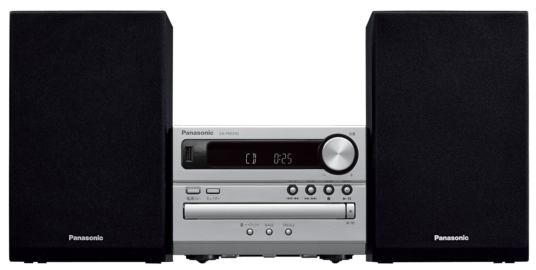 Panasonic CD stereo system USB Memory / Bluetooth correspondence Silver SC-PM250-S OPEN BOX by Panasonic