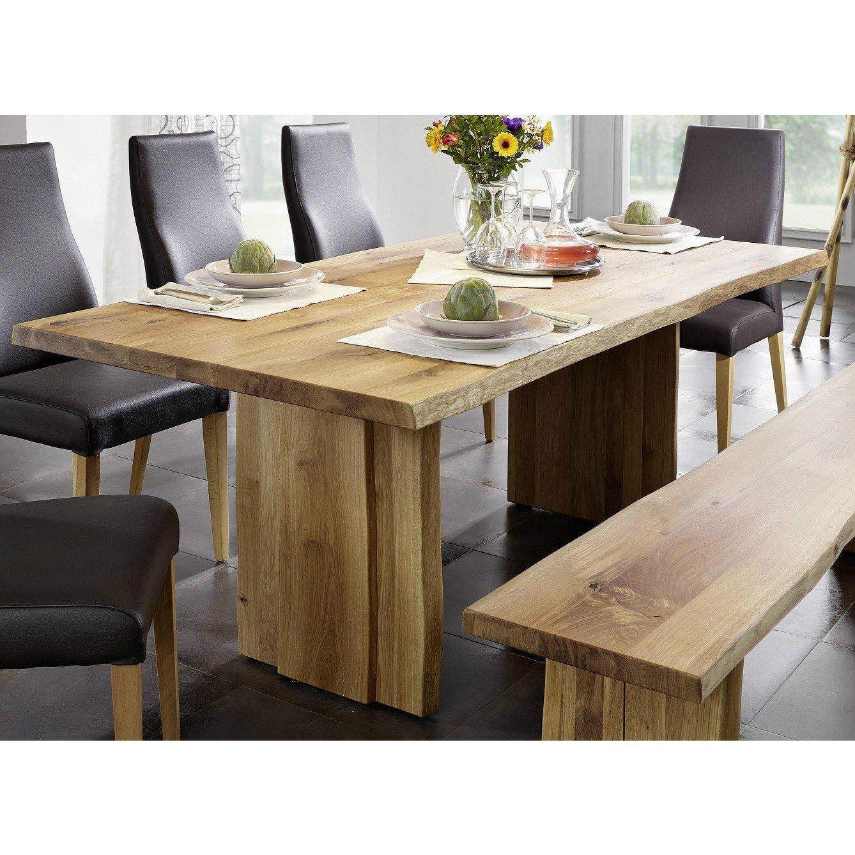 Tisch mit Baumkante Esstisch Baumtisch 200x100cm