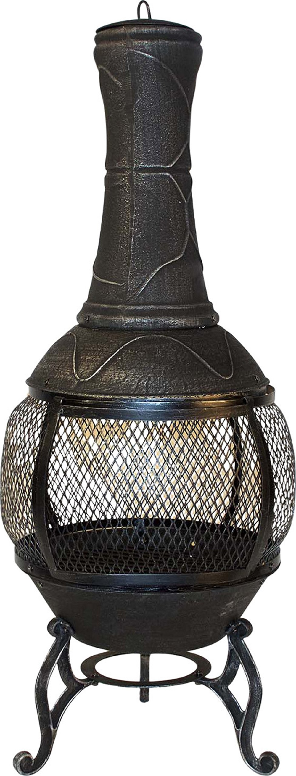 Harbor Gardens LF92B Horizon Brushed 46'' Outdoor Steel Chiminea Fireplace by Harbor Gardens