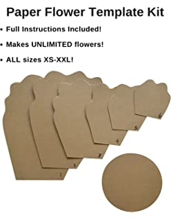 Amazon darice wall dcor kit natural paper flower 84 pieces paper flower template kit make your own paper flowers paper flowers decoration make mightylinksfo