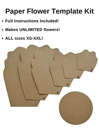 Amazon paper flower template kit make your own paper paper flower template kit make your own paper flowers paper flowers decoration make pronofoot35fo Choice Image