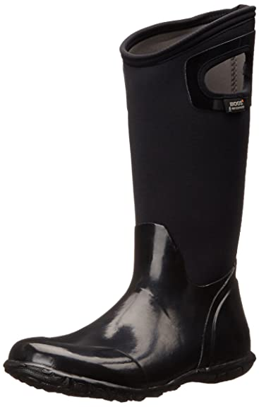 Bogs Women's North Hampton Solid All Weather Rain Boot, Black,6 ...