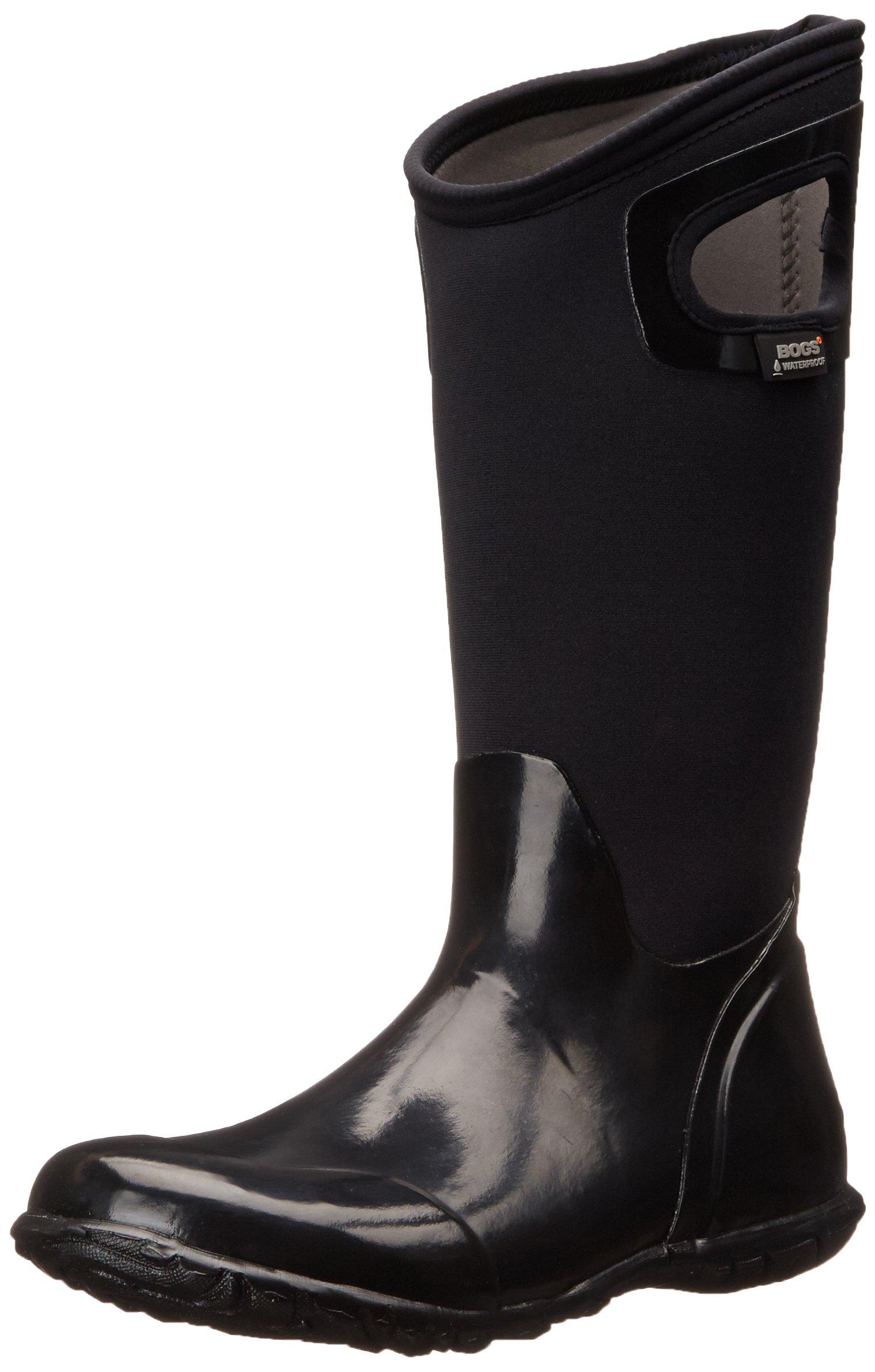 Bogs Women's North Hampton Solid All Weather Rain Boot, Black,8 M US