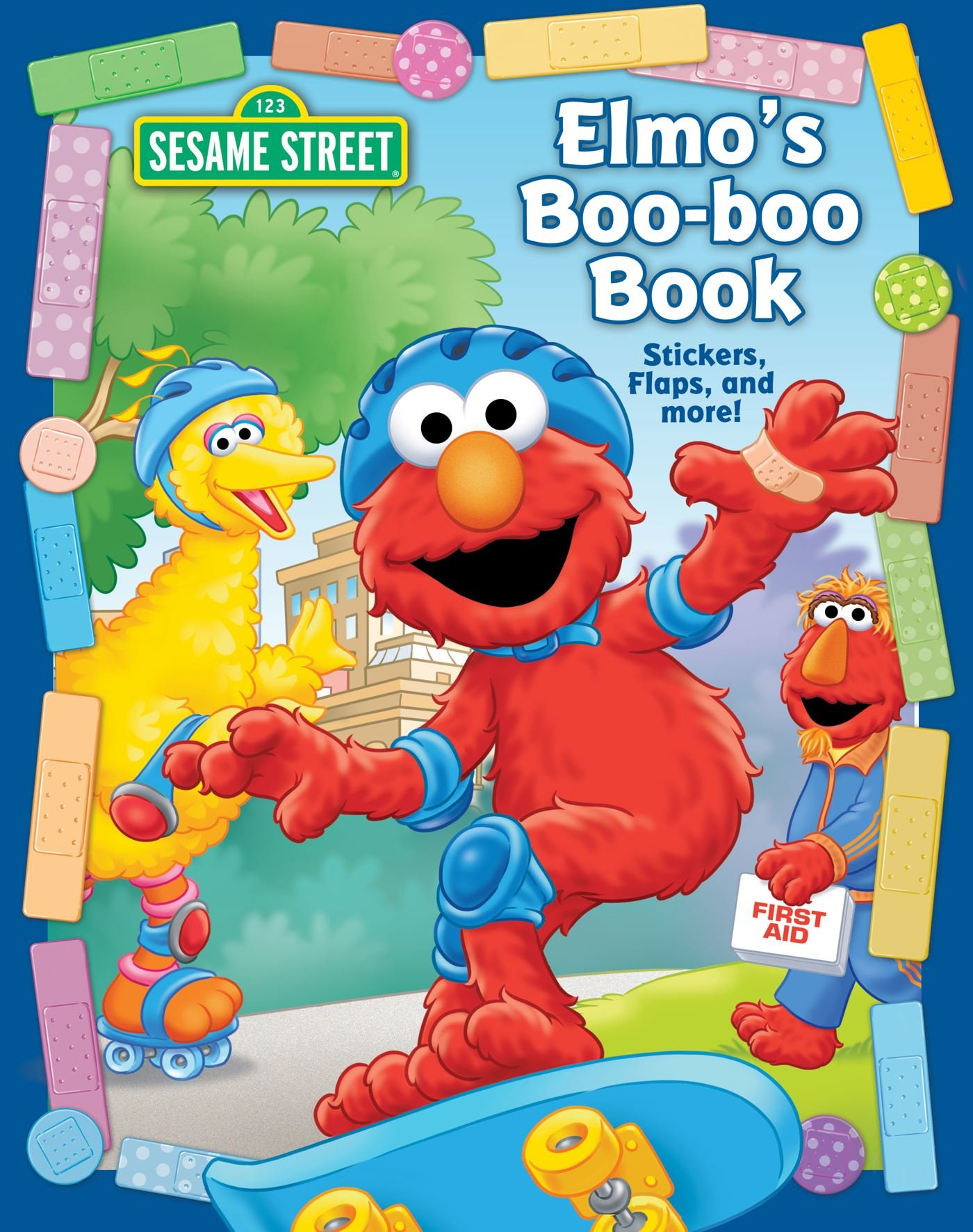 sesame street elmo u0027s boo boo book flap sticker book matt mitter