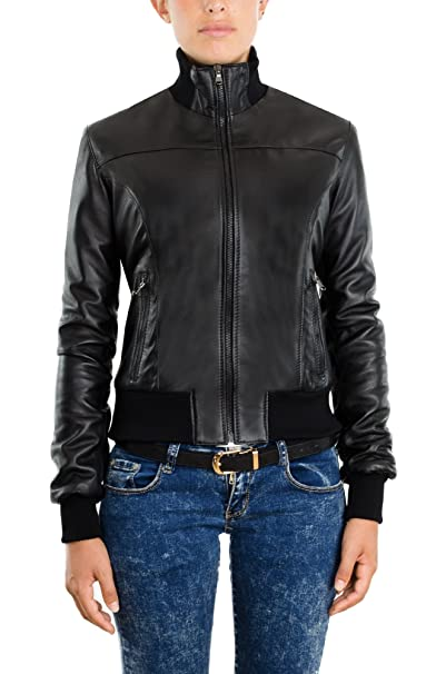 on sale 09a60 7f38e Pellein - Giacca - Bomber in Pelle Donna Invernale Friend ...