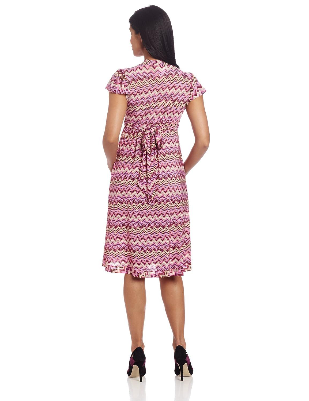 8f252dc6dd962 Everly Grey Women's Uma Flutter Sleeve Maternity Wrap Dress at Amazon  Women's Clothing store:
