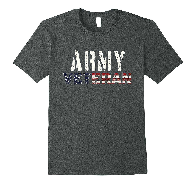 Army Veteran T Shirt | Veterans Day Tee Stars and Stripes-ANZ