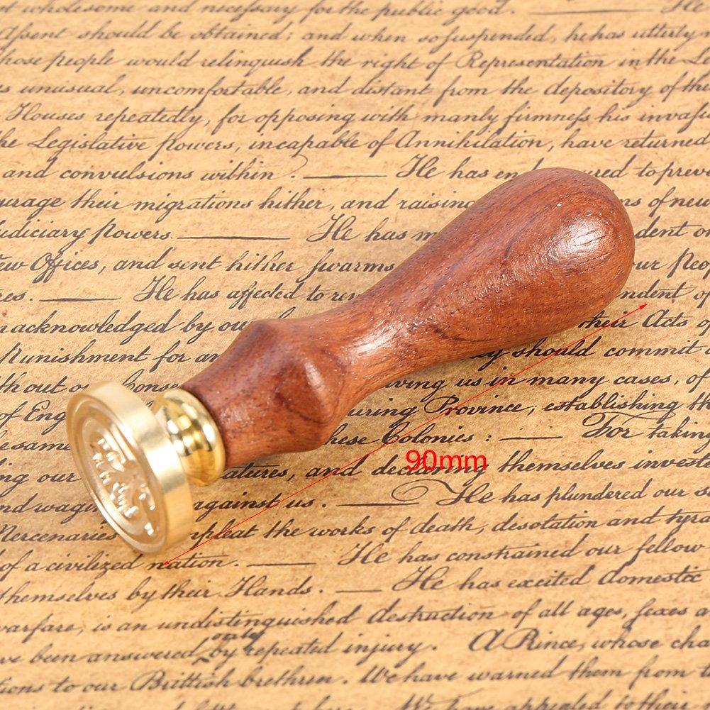 Candela Utensili Fatti a Mano Alfabeto S 1 Set Timbro Sigillo di Cera Vintage Distintivo Alfabeto Kit Set Strumento con Manico in Legno Cucchiaio