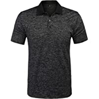 URRU Men's Regular-Fit Quick-Dry Short Sleeve Soft Fitted Casual Golf Polo Shirt