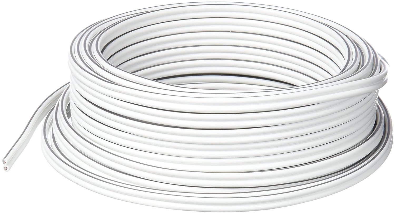 MANAX/® cable del altavoz 2 x 1,50 mm/² 50 m transparente Anillo