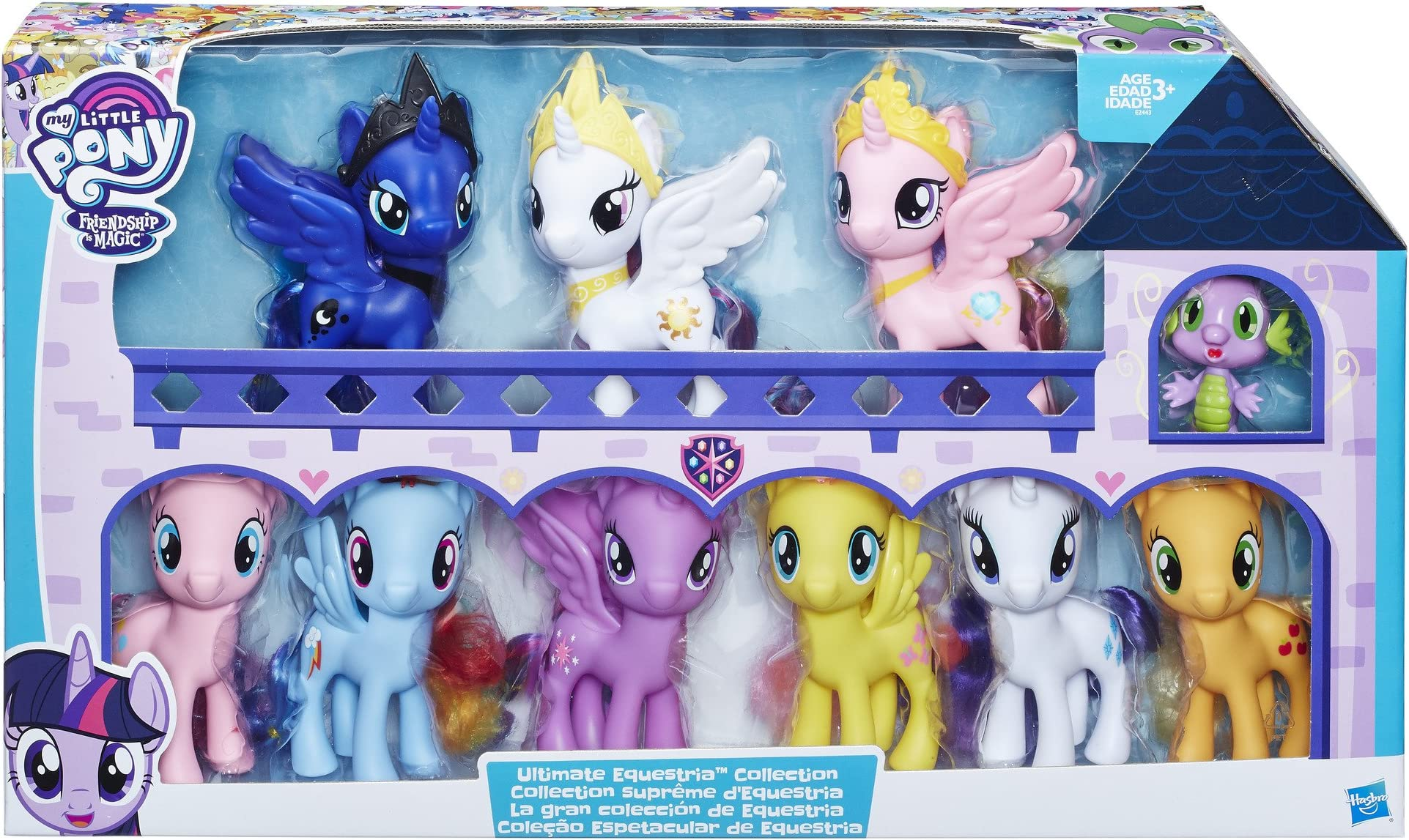 My Little Pony Glamour Glow Rarity /& Princess Twilight Sparkle /& Spike Dragon