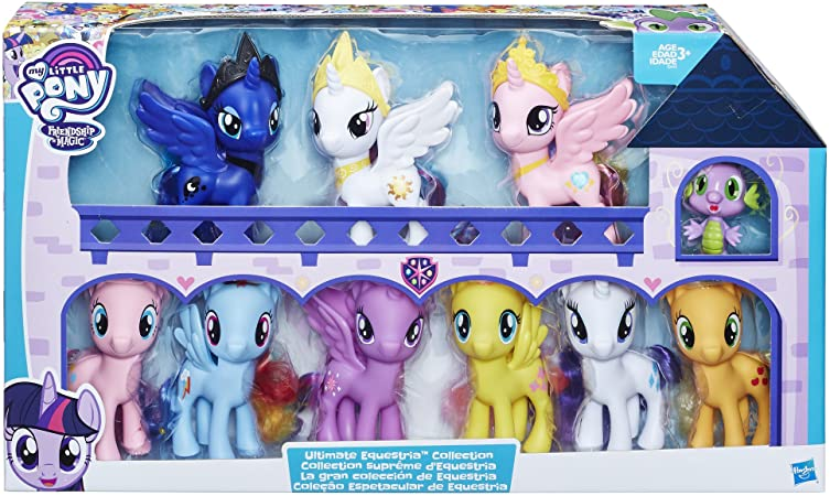 "Amazon.com: My Little Pony E2443 Friendship Is Magic Toys Ultimate  Equestria Collection Spike The Dragon "" Kids Ages 3 And Up, Multicolor:  Toys & Games"