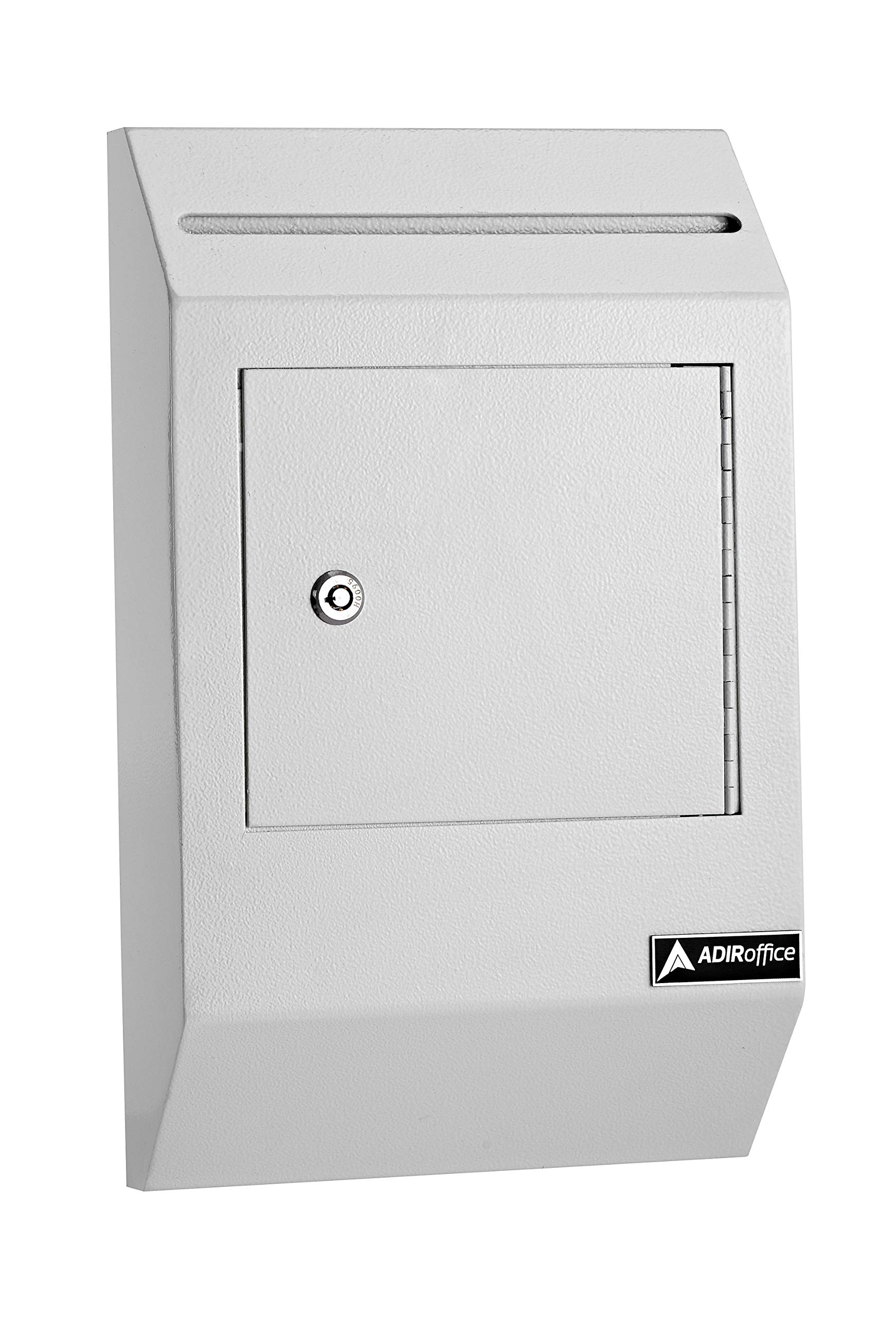 AdirOffice Drop Box - Heavy Duty Secured Storage with Lock - for Commercial Home Office or Business Use (White)