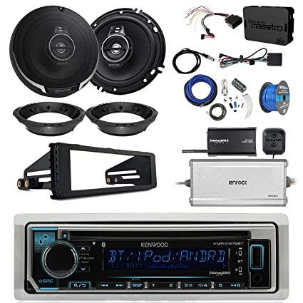 kenwood sub amp wiring harness colors amazon com kenwood kmrd372bt marine cd bluetooth radio  2x 6 5  kenwood kmrd372bt marine cd bluetooth