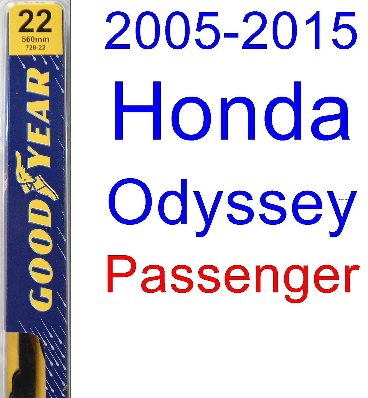 Amazon.com: 2005-2015 Honda Odyssey Wiper Blade (Passenger) (Goodyear Wiper Blades-Premium) (2006,2007,2008,2009,2010,2011,2012,2013,2014): Automotive