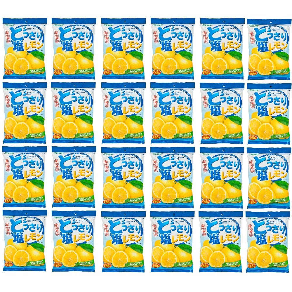 Lemon and Salt Candy 150g (628MART) (24 Packs) by Cocon (Image #1)