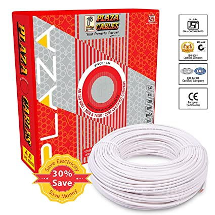 PLAZA Cables 1.5 sq mm Copper PVC Insulated Electrical Wire/Cable 1100V -90 Meter