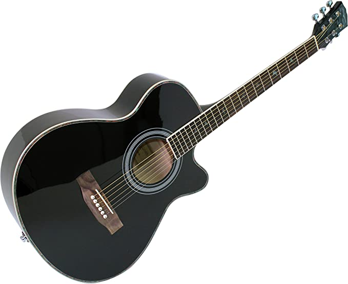 Martin Smith W-401E-BK Guitarra acústica eléctrica - color negro ...