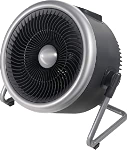 PELONIS Portable 2 in 1 Vortex Heater with Air Circulation Fan and Wide Tilting Angle Stand. Quiet Cooling & Heating Mode, Tip Over & Overheat Protection,for Home, Office Personal Use, Black