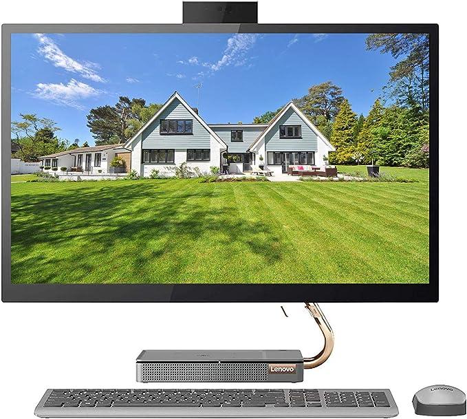 """Lenovo Ideacentre A540 2020 Premium All in One Desktop Computer I 27"""" QHD IPS Touchscreen I Intel Hexa-Core i5-9400T (>i7-7700HQ)I 8GB DDR4 256GB PCIe SSD I WiFi Win 10 + Delca 16GB Micro SD Card   Amazon"""