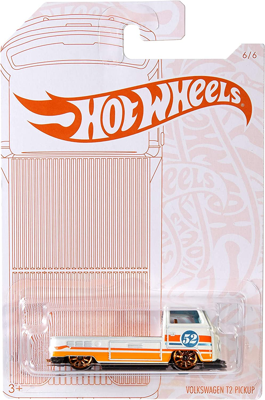 2 Hot Wheels 52nd Anniversary Pearl /& Chrome Series Volkswagen T2 Pickup NOC