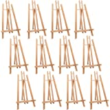 """MEEDEN 20"""" Tall Tabletop Easel - 12PCS Medium Tabletop Display Solid Beech Wood Easel, for Kids Artist Adults Classroom…"""
