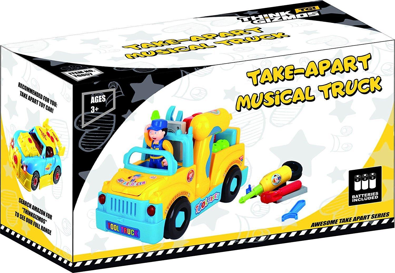 Think Gizmos Juguetes de Aprendizaje Musical para niños pequeños (Camion Musical): Amazon.es: Juguetes y juegos