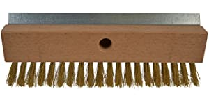 "Bristles 4004 Industrial Strength Pizza Oven Stone Brush Scraper and Cleaner 10"", Brown"