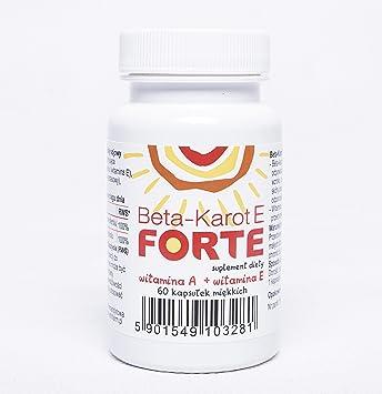 Beta caroteno antioxidante vitamina A, vitamina E- 60 caps.=60 dias: Amazon.es: Salud y cuidado personal