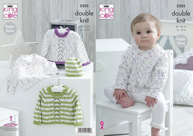 King Cole 5205 - Jersey y gorro de punto para bebé (algodón, suave ...