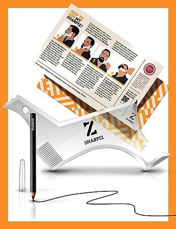amazon com beard shaping template tool transparent stencil shaper