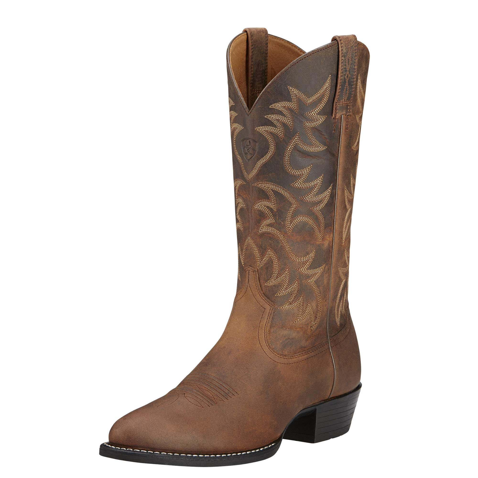 Ariat Men's Heritage Western R Toe Cowboy Boot, Distressed Brown, 13 D US