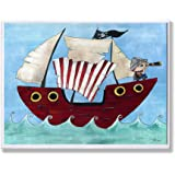 Amazon Com Pirate Ship Wall Clock Boys Bedroom Ocean
