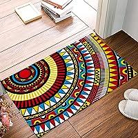 Rug Entrance Graffiti Elements Aztec Abstract Pattern Bathroom Doormat Carpet Indoor Mat Anti Skid Shag Shaggy Bath Shower Mats Carpet 15.7 X 23.5 inches Two Sides Printing