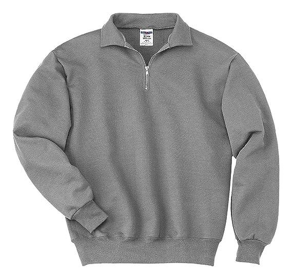 054b0642a2f Image Unavailable. Image not available for. Colour  Jerzees Mens NuBlend Super  Sweats Quarter-Zip Cadet Collar Sweatshirt ...