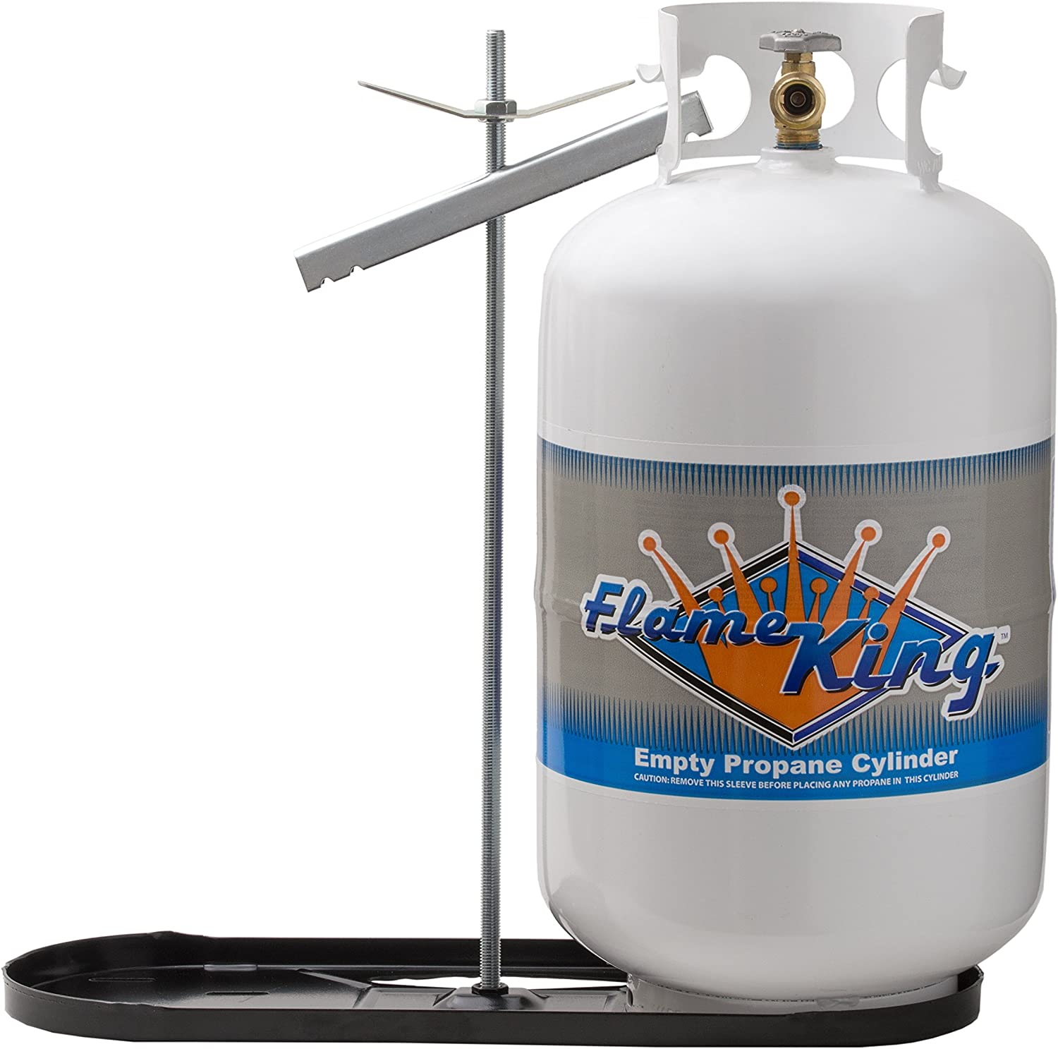 KT30MNT Flame King Dual RV Propane Tank Cylinder Rack For RVs and Trailers for 30lb Tanks Tanks not included