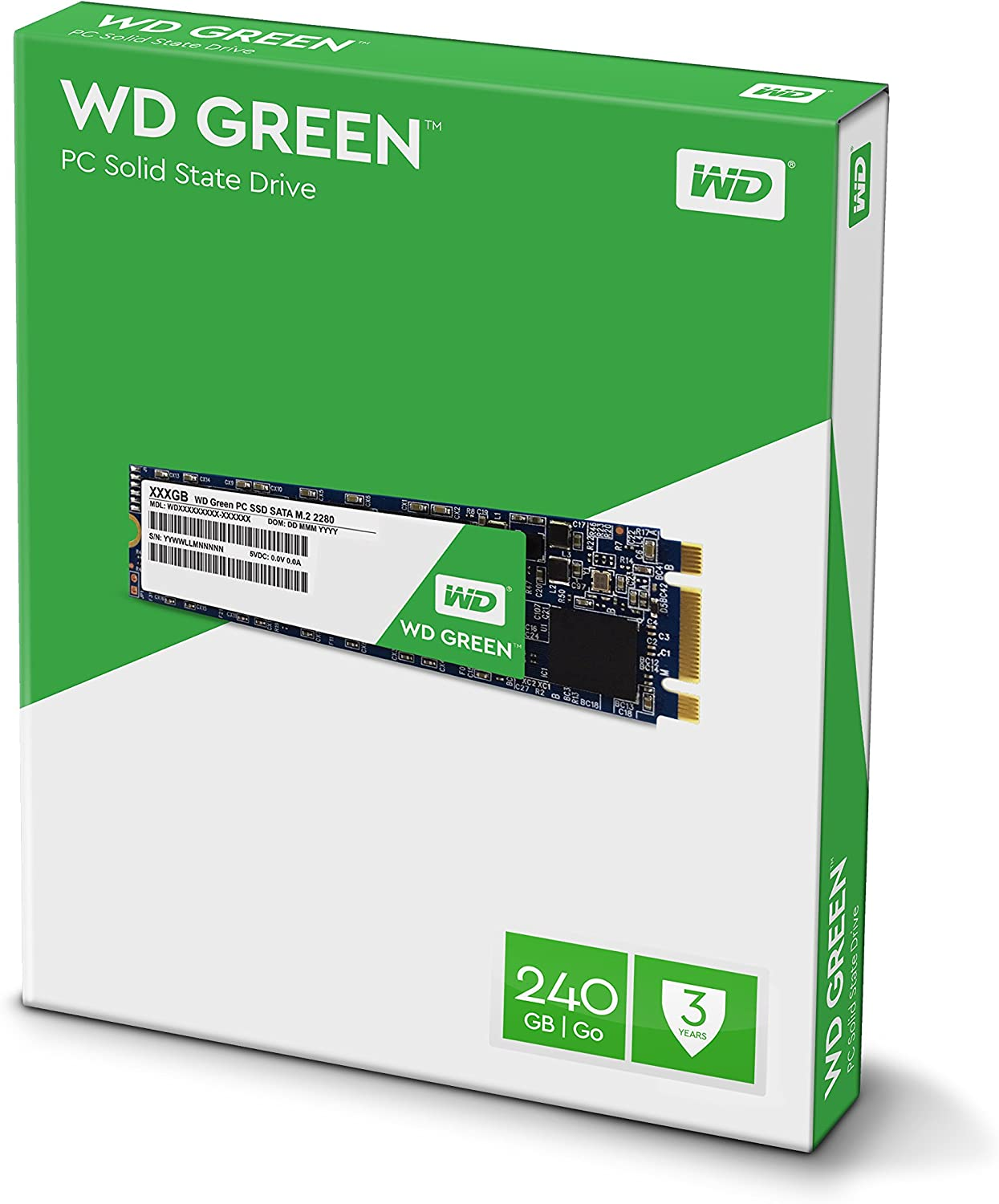 WD Green 240GB M2 2280 Solid State Drive