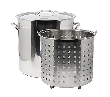Amazon.com: CONCORD - Olla de acero inoxidable con cesta de ...