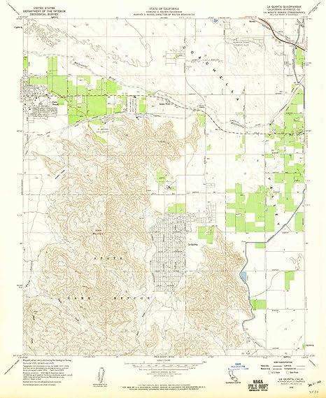 Amazon Com Yellowmaps La Quinta Ca Topo Map 1 24000 Scale 7 5 X