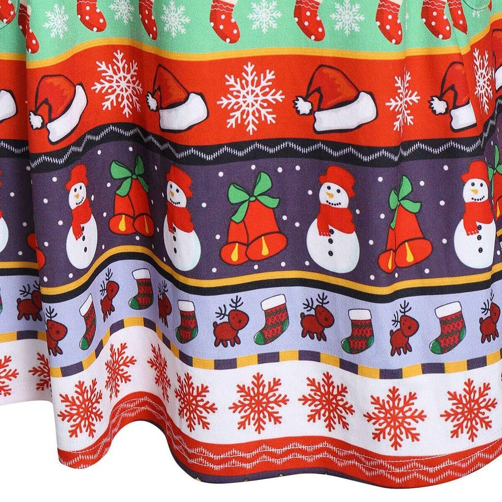 Weihnachten Pulloverkleider Dasongff Xmas Patchwork Weihnachtskleider mit Volant Trompeten/ärmeln Umhang Button Up Kapuzenjacke Warm Cosplay Rentier Kleider Kost/üm