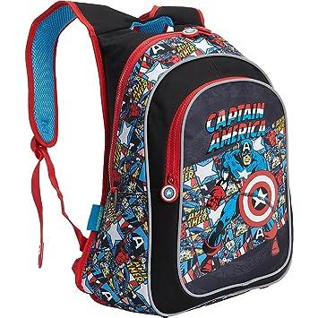 Marvel Mochila Captain America American Hero (negro): Amazon.es: Deportes y aire libre