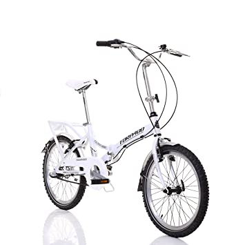 "Folding plegable Torpado bicicleta 20"" alu 1 V blanco (plegables)/bicycle foldable"