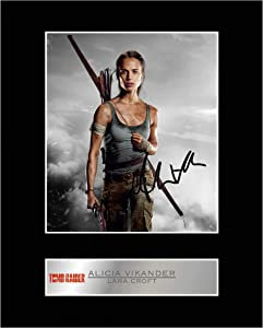 iconic pics Alicia Vikander as Lara Croft Signed Mounted Photo Display Tomb Raider Autographed Gift Picture Print
