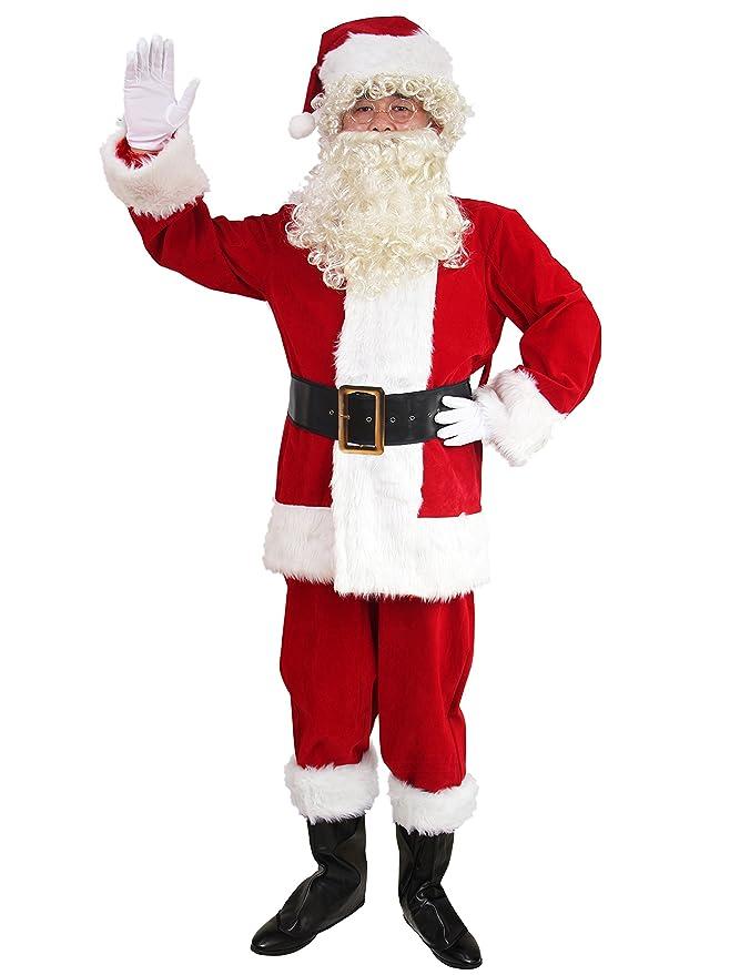 Amazon.com: Disfraz de Santa Claus WhoBuy para hombre adulto ...