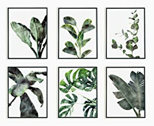 Bunny and Blade Botanical Wall Art – Premium Decorative Plant Pictures – 8.5 x 11-inch Prints for Wall Décor – 6 pcs Unframed Botanical Prints – Minimalist and Modern Design - Cardstock Gloss Paper