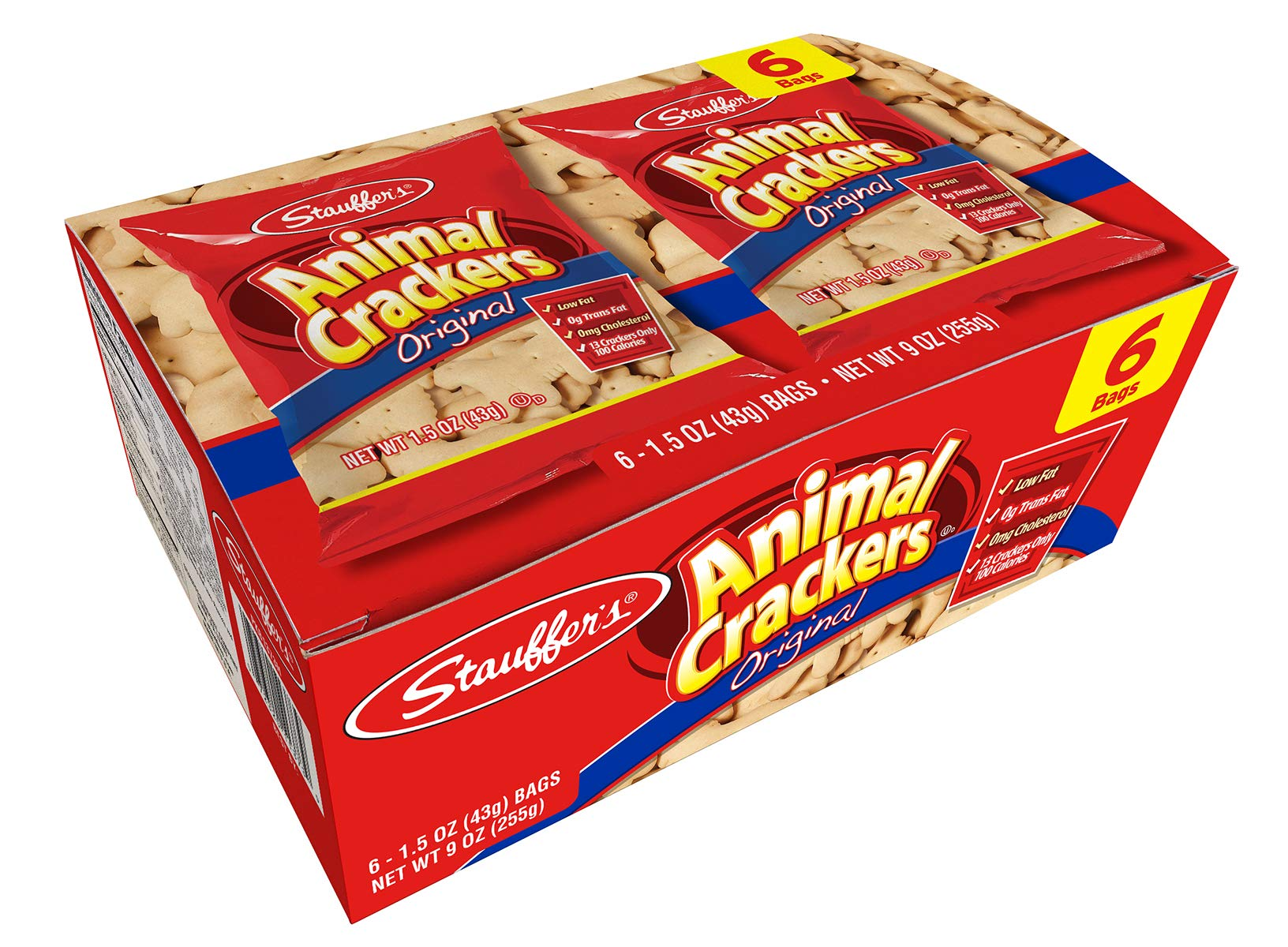 Stauffer's Original Animal Crackers, 12 Snack Packs, 1.5 Oz. Each by Stauffer Biscuit Company