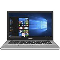 """Asus Vivobook N705UD-GC104T PC Portable 17,3"""" Full HD Gris (Intel Core i7, 16 Go de RAM, Disque Dur 1 To + SSD 256 Go, Nvidia GeForce GTX 1050 4G, Windows 10) Clavier Français AZERTY"""