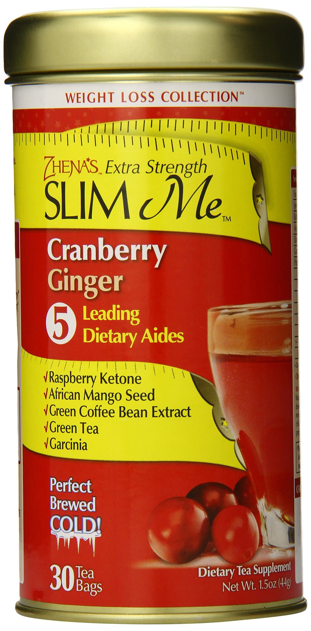 Zhena S Gypsy Tea Extra Strength Slim Me Cranberry Ginger 30