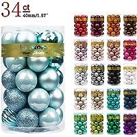KI Store Christmas Balls Shatterproof Christmas Tree Ornaments Decorations for Xmas Trees Wedding Party Home Decor