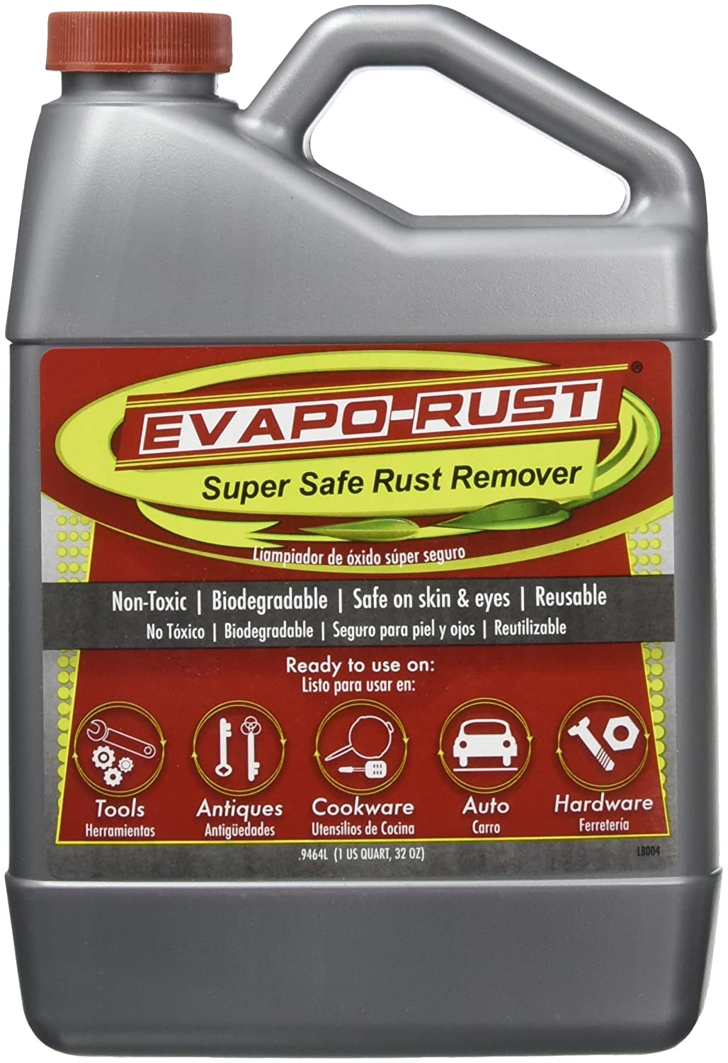 "Amazon.com: Evapo-Rust EVAER004 Rust Remover (EVAPO-RUSTâ""¢, Case of 4-1 Quart Bottles): Automotive"